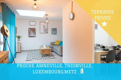 Appartement Le Cosy Bed Proche Lux, Amneville, Thionville, Metz