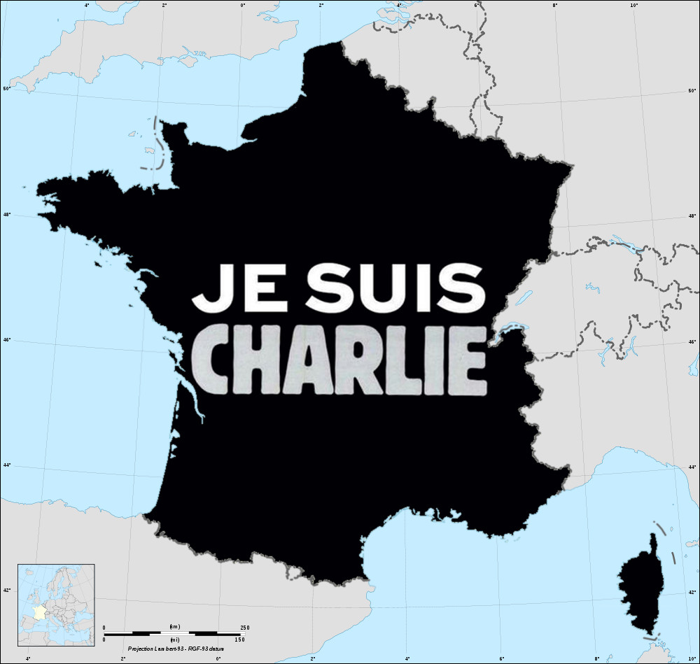 Carte France Je Suis Charlie