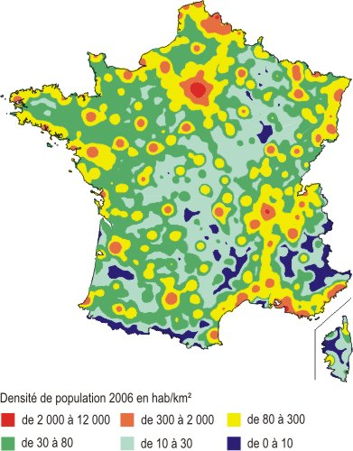 Carte densite population