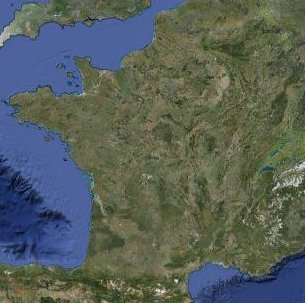 Carte de France satellite