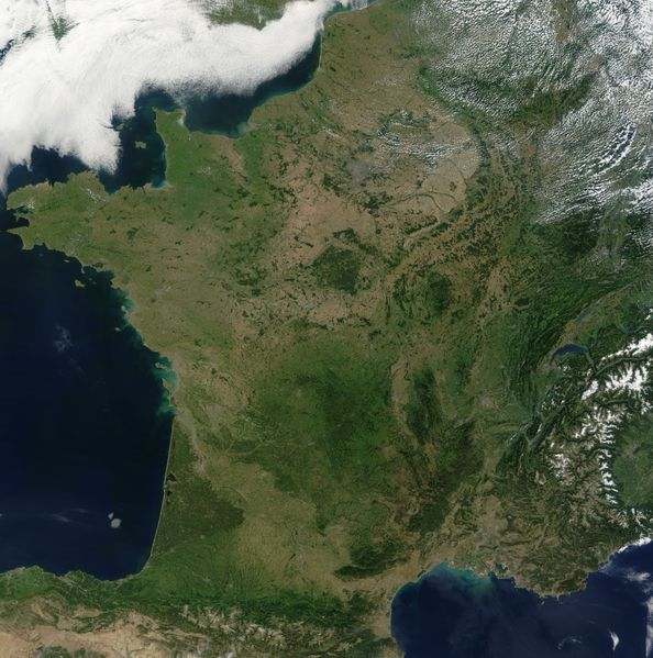 carte france vue satellite