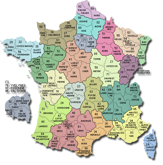 carte de france nom département CARTE DE FRANCE DEPARTEMENT   Carte des départements Français