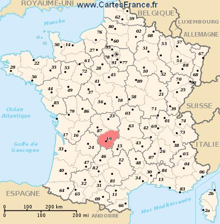 carte de france ussel