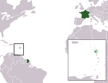 carte departement Guadeloupe
