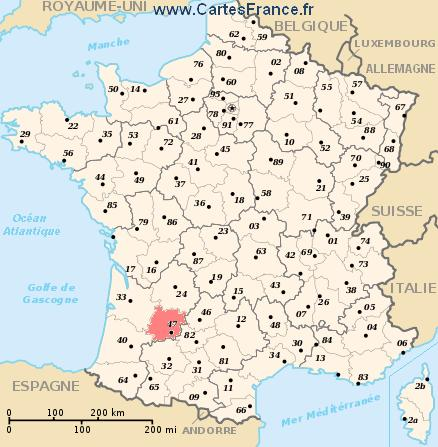 carte departement Lot-et-Garonne