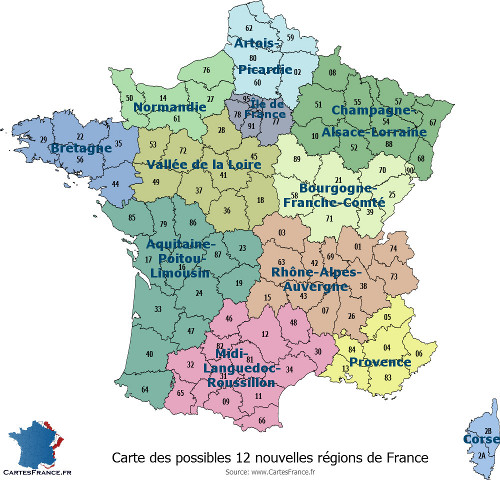Carte De France Bourgogne Franche Comte.Carte De France Region Carte Des Regions Francaises