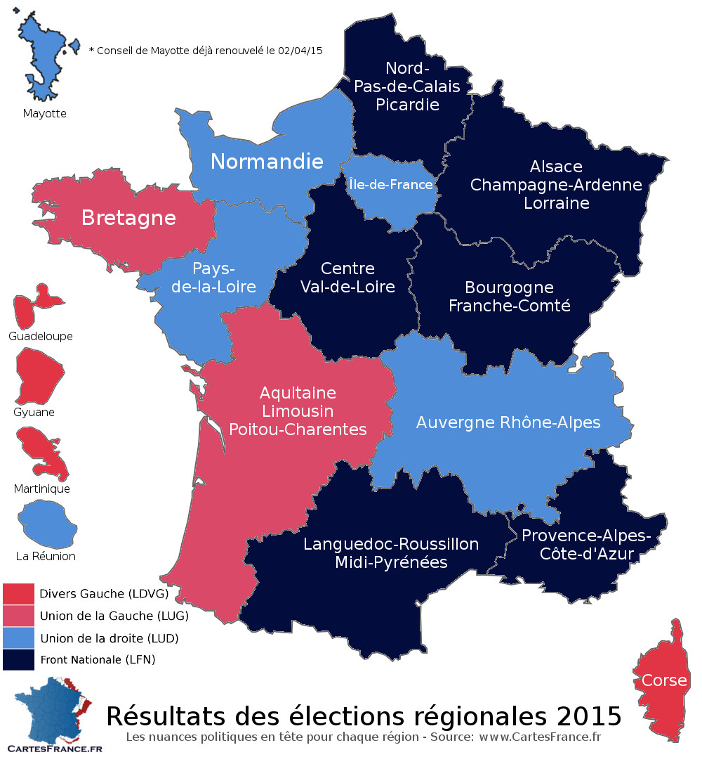 carte de france elections 1er tour