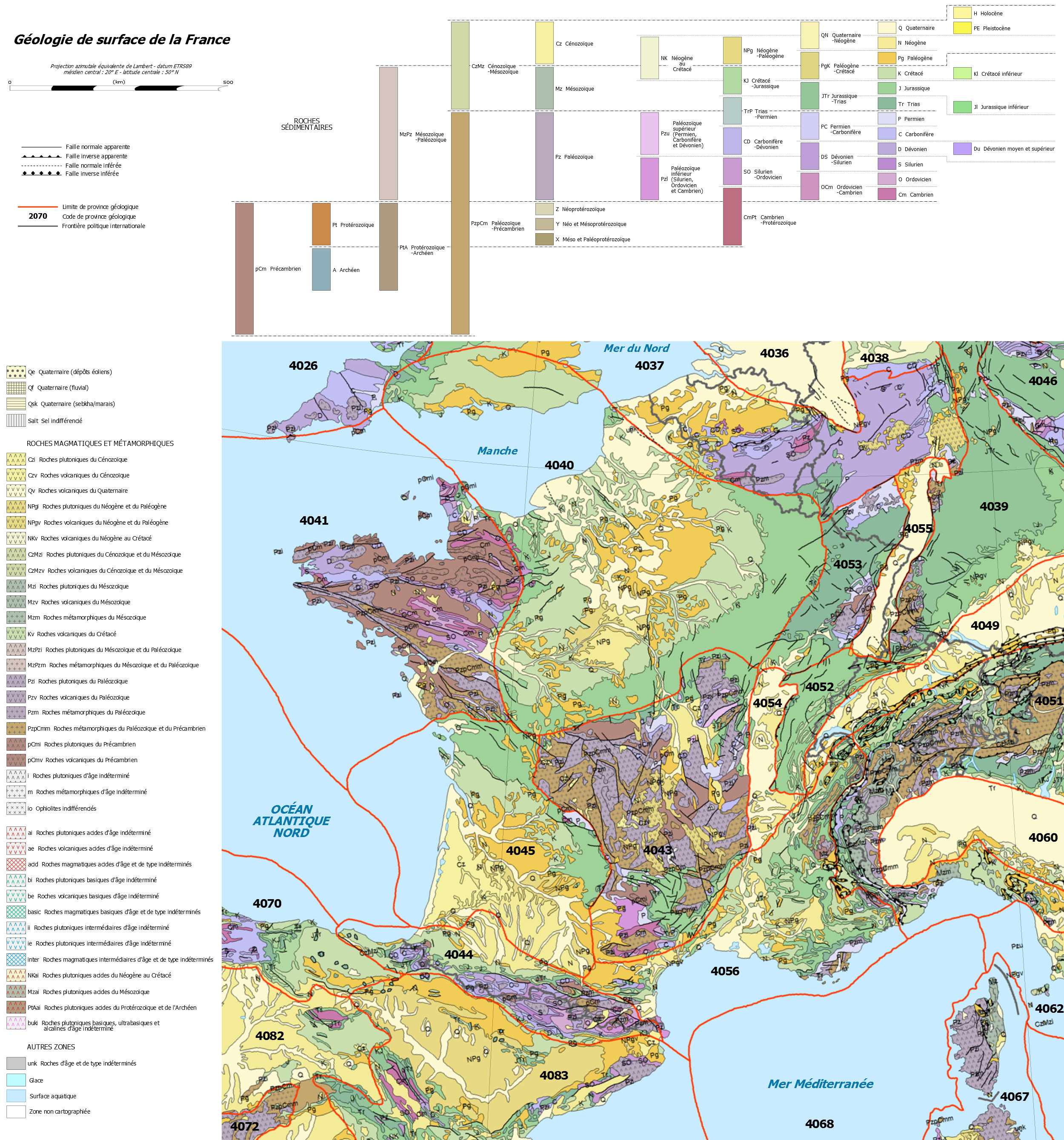 carte de france geologique