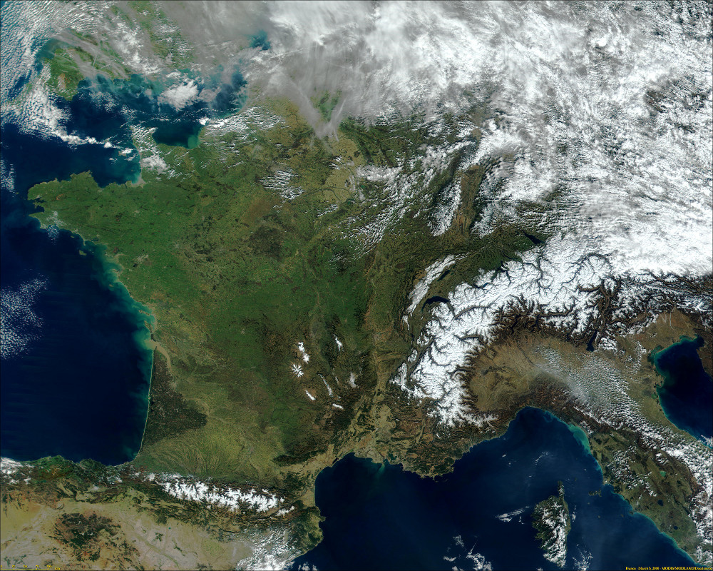 Image satellite de France du 19/07/2000