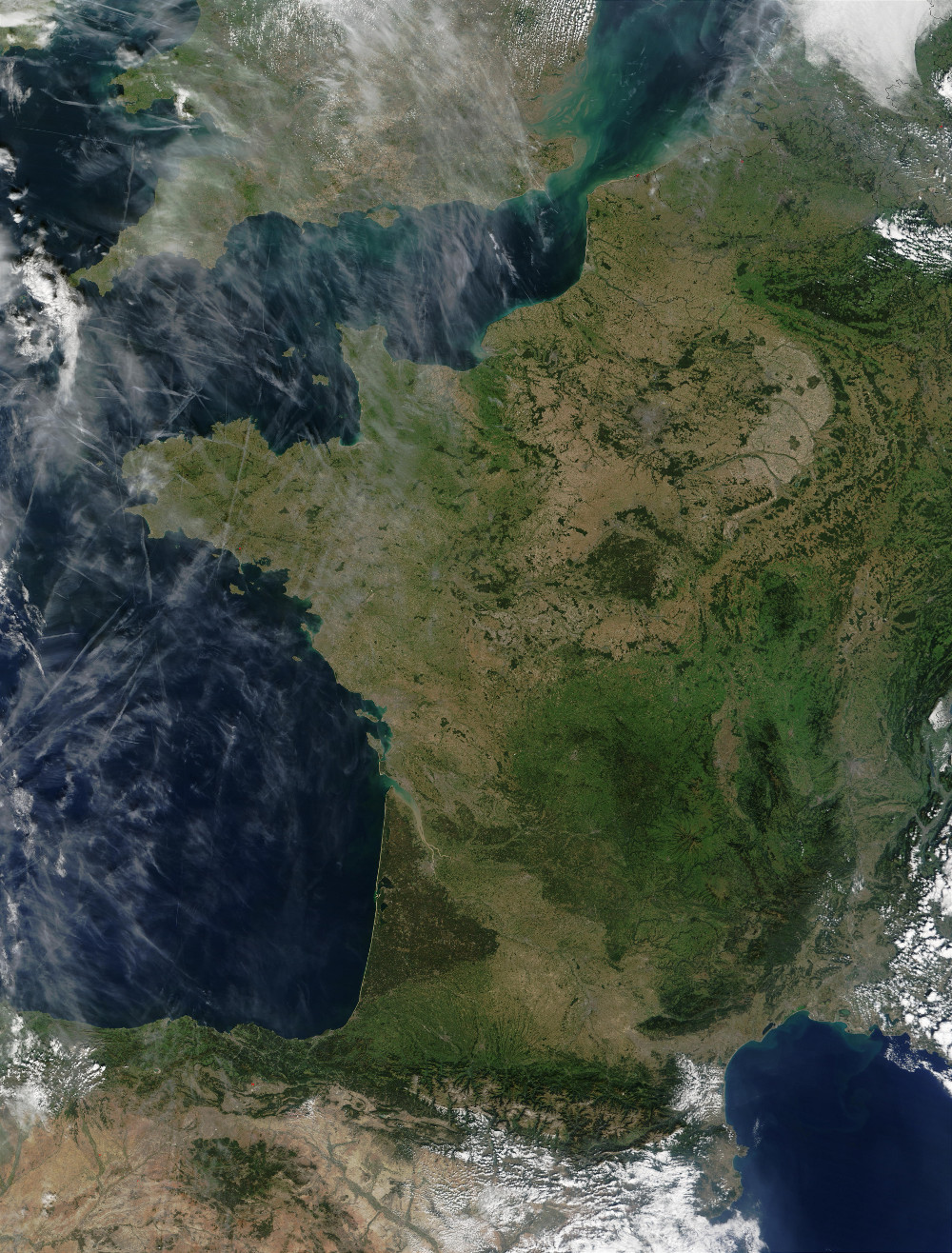 Image satellite de France du 29/09/2002