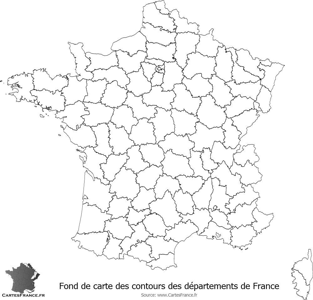 carte de france a colorier par departement