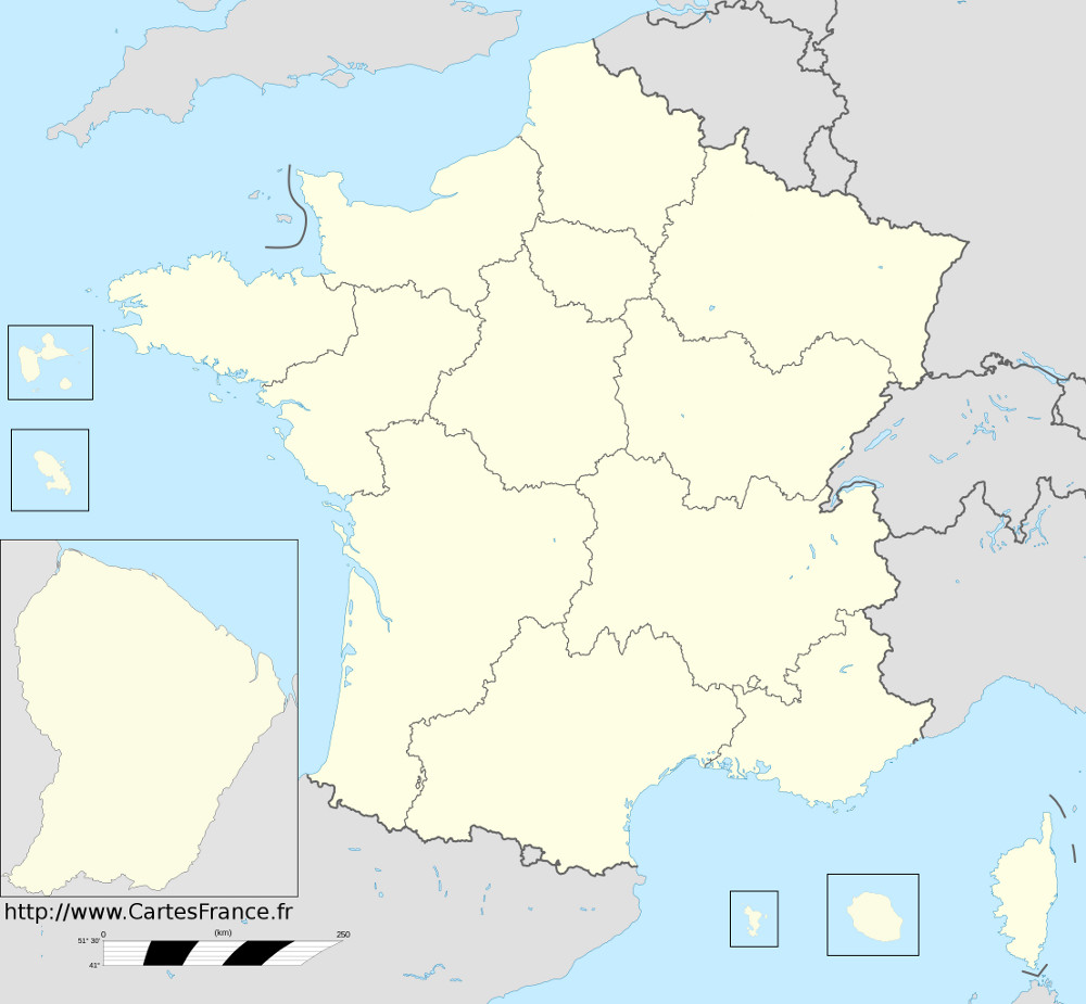 carte de france region - Photo