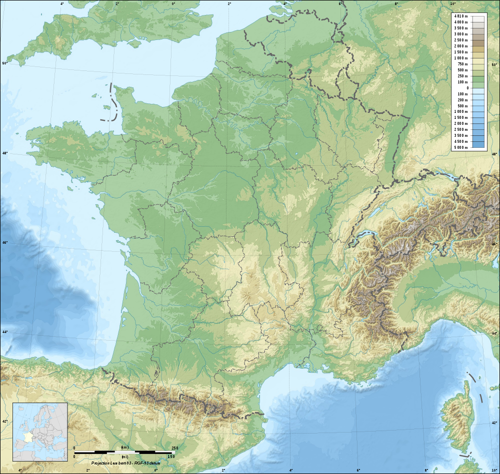 carte de france geographie
