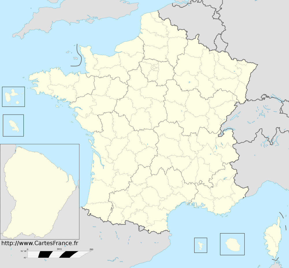 carte de france et departement