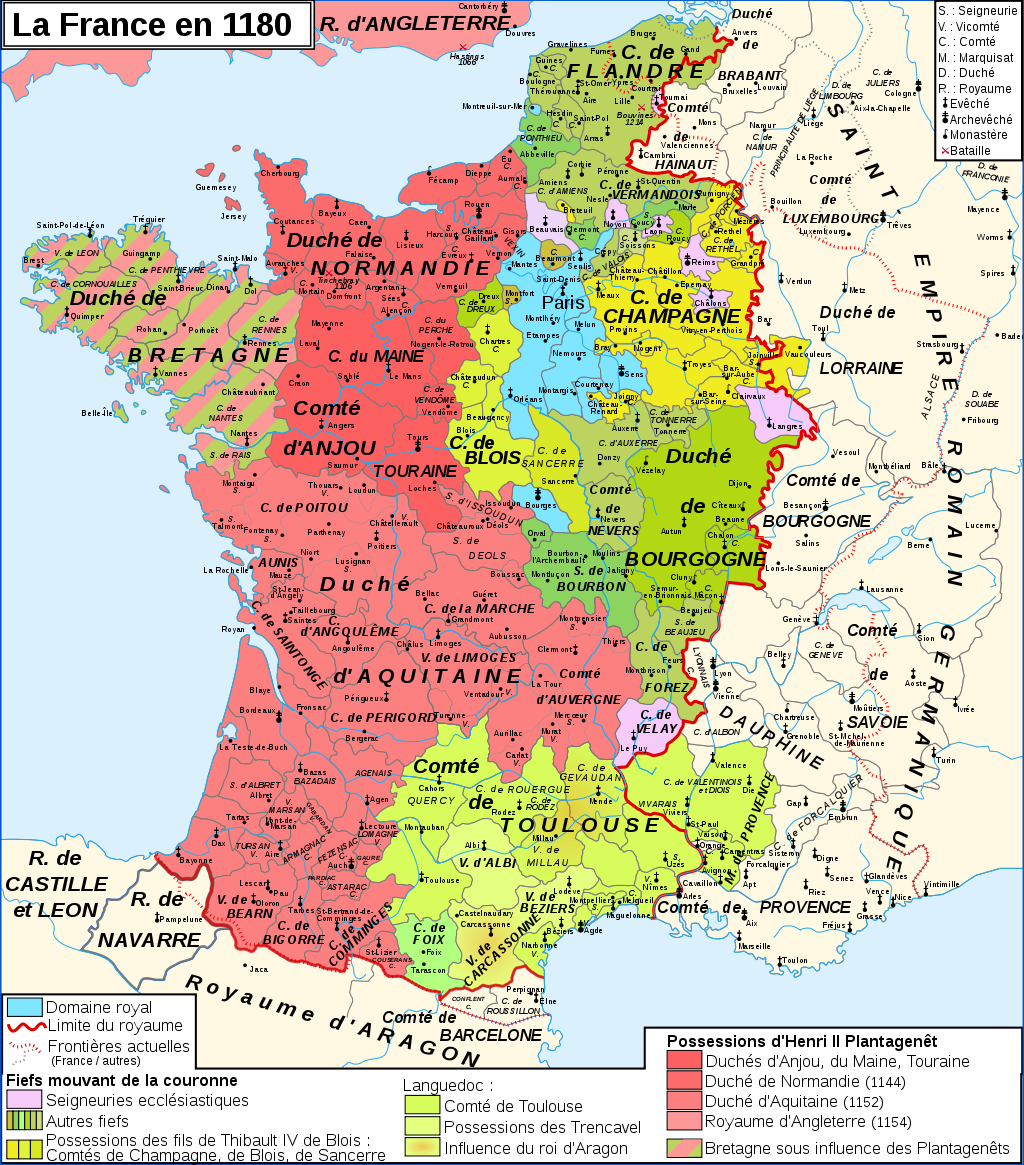 carte de france il y a 1000 ans