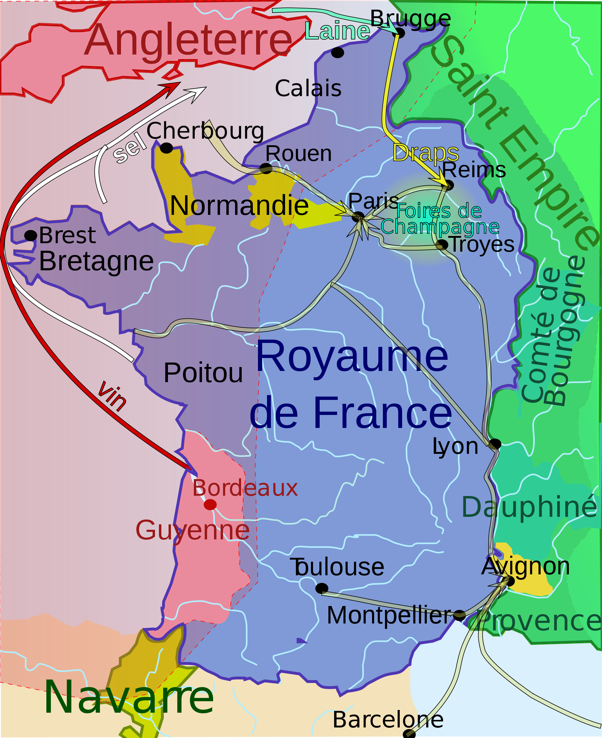 carte de france il y a 10000 ans