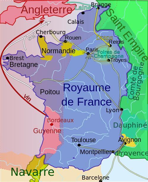 carte guerre cent ans france 1330