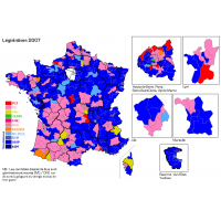 Carte elections legislatives 2007