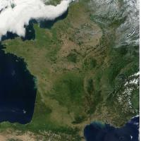 Image satellite de France du 14/08/2002