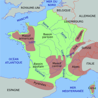 Carte de France simplifiee