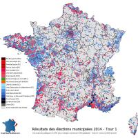 Carte élections municipales 2014 - Tour 1