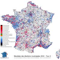 Carte élections municipales 2014 - Tour 2