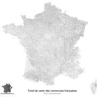 Fond de carte des communes de France