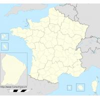 Fond de carte des departements