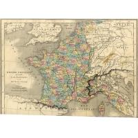 Carte de France sous Napoleon