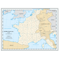 Departement de l'empire sous Napoleon en 1811