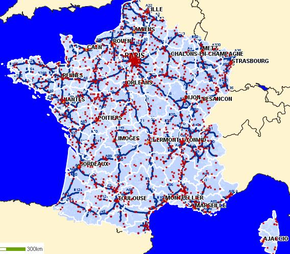 carte de france mappy